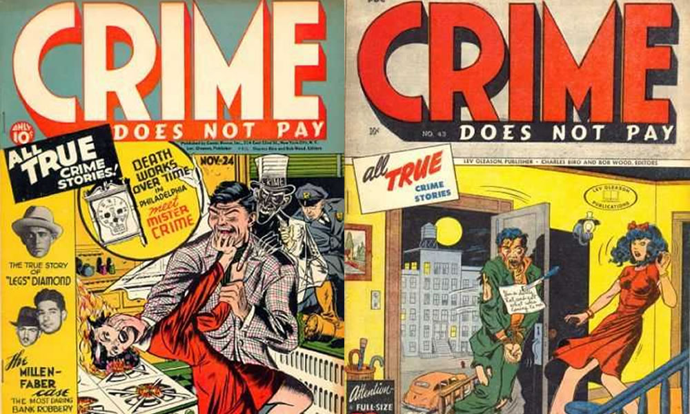 copertine di crime does not pay