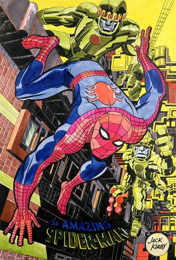 poster di jack kirby su spider-man