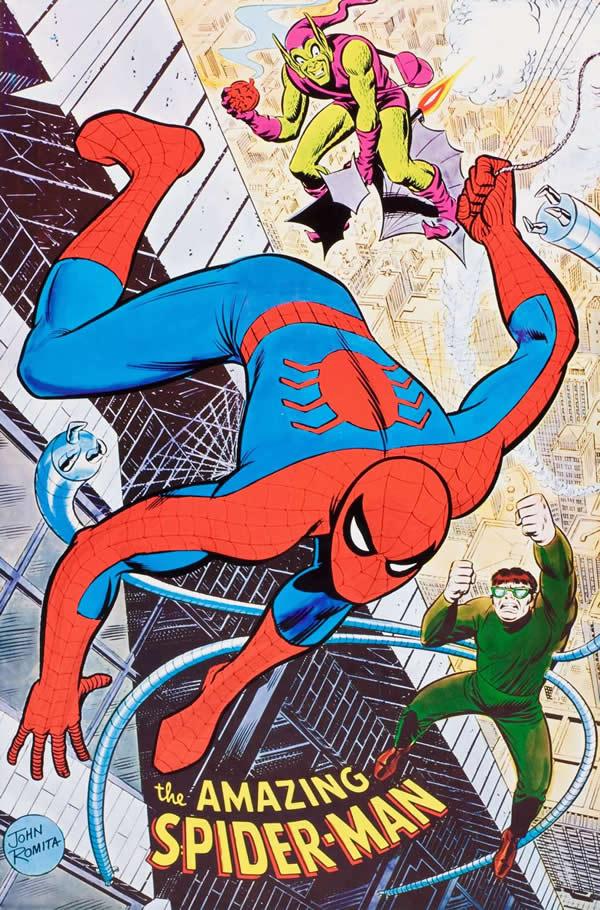 poster di John romita su spider-man