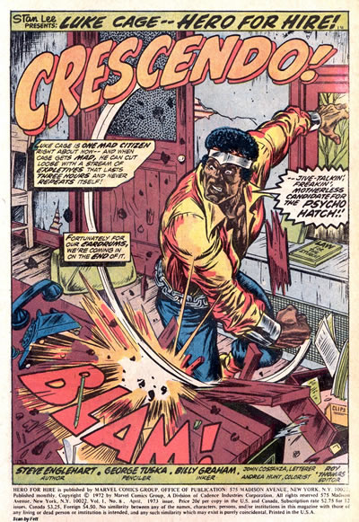 Luke Cage splash page marvel