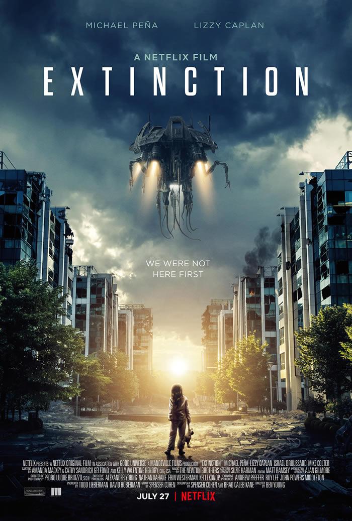Extinction - il poster del film Netflix