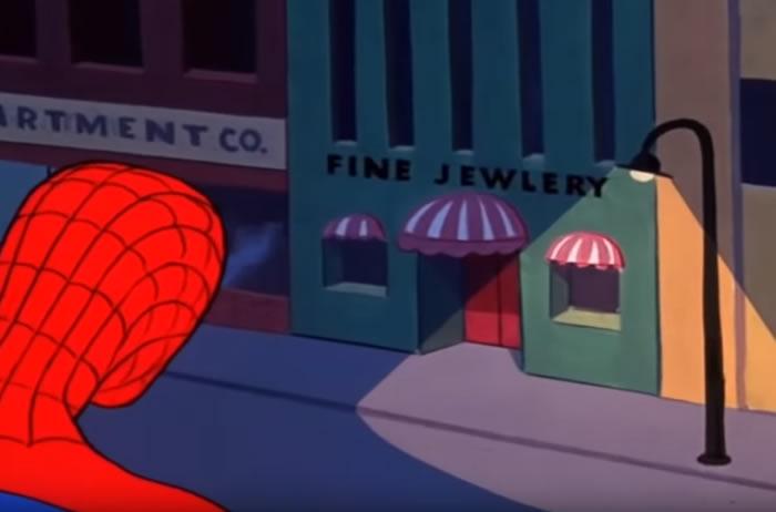 Nella sigla del cartone anni di spider man c era un errore