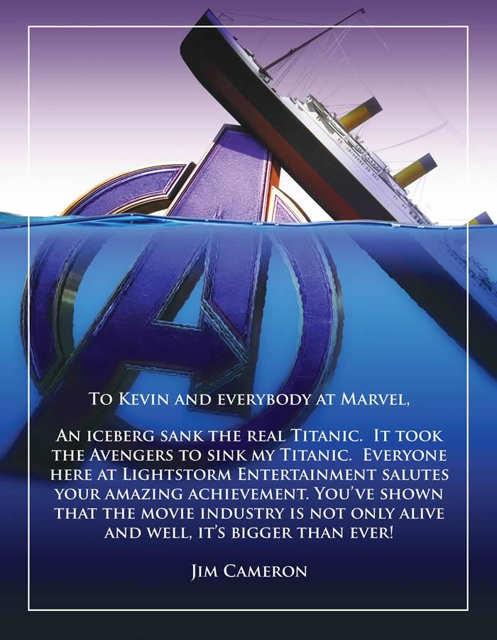 Avengers affonda Titanic - Cameron si congratula con la Marvel