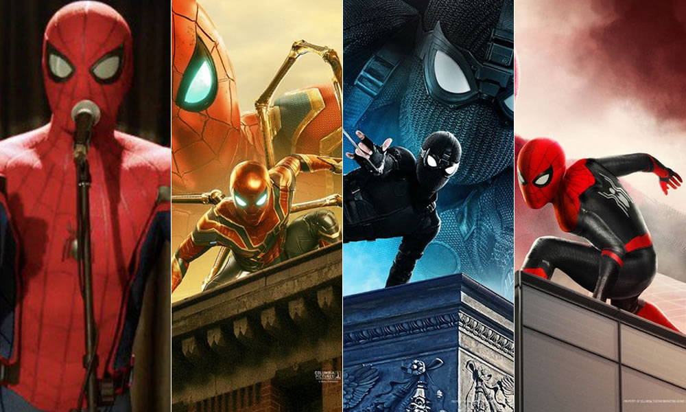 Spider-man i Costumi in Spider-Man far From Home