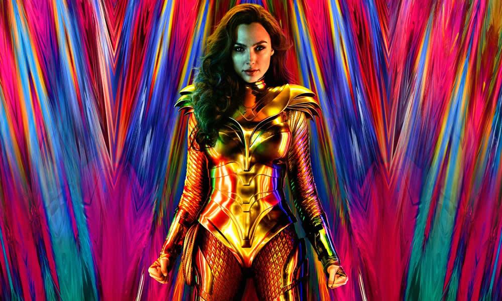 Wonder Woman poster con armatura d'oro