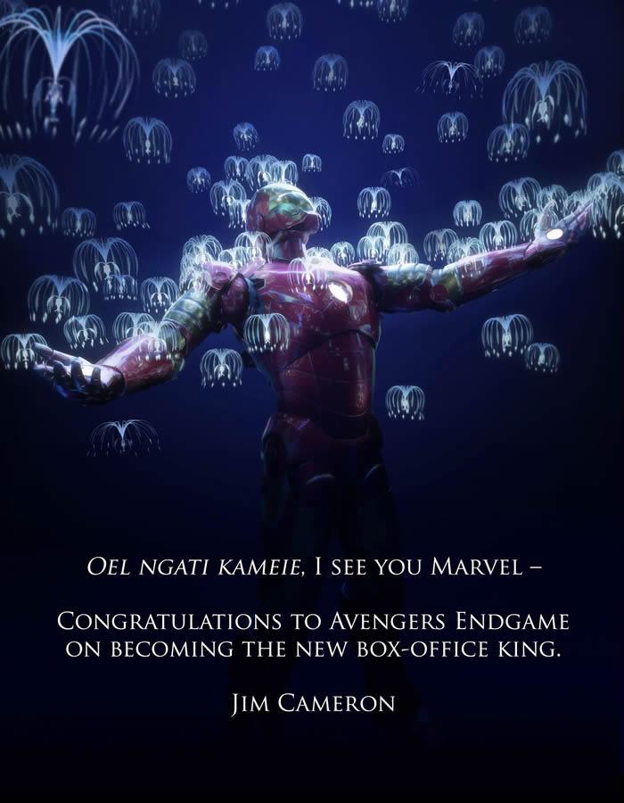 Avengers Endgame: Cameron si congratula