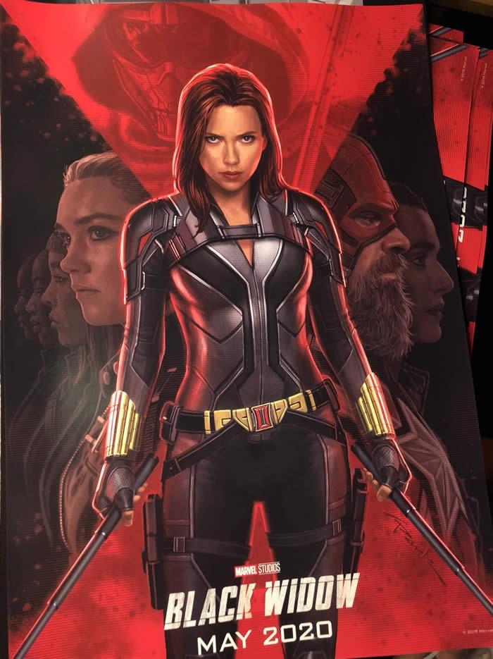 Black Widow il poster dipinto del film