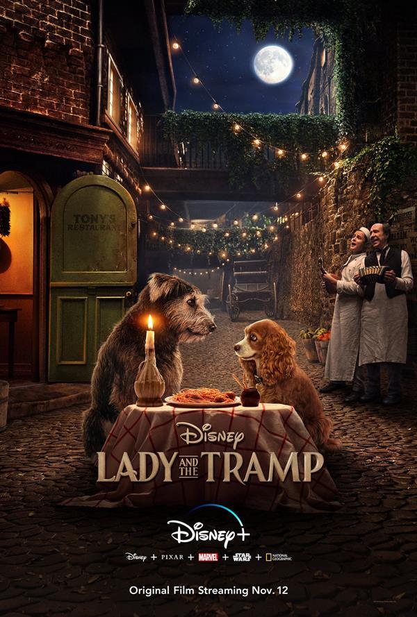 Lady and The Tramp - il poster del film per Disney+