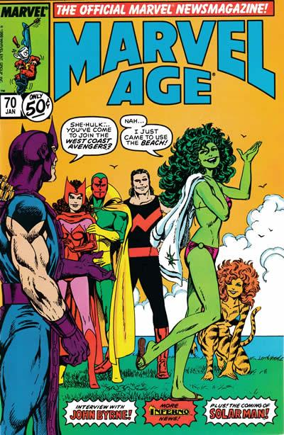 She-Hulk covers: Marvel Age