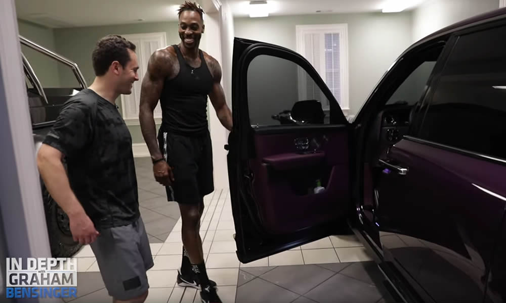 Dwight Howard e l'auto color viola come Thanos