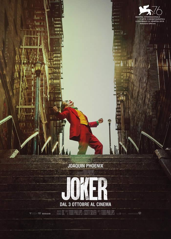 Joker - la locandina del film ceh ha vinto il Leone d'Oro a Venezia