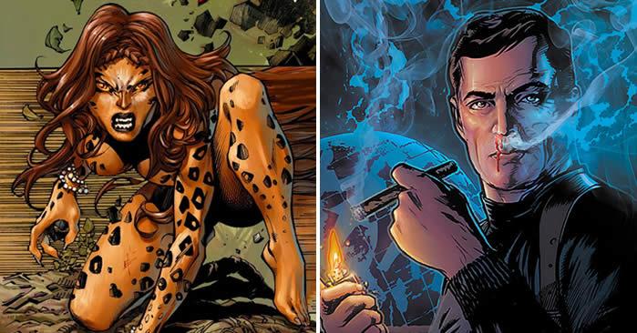Cheetah e Max Lord nei fumetti della DC Comics