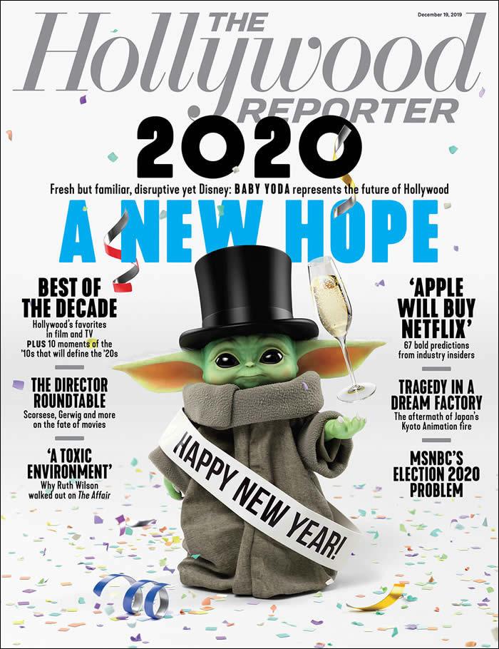 Baby Yoda sulla copertina di The Hollywood Reporter