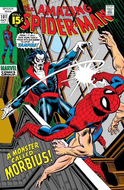 La copertina di ASM 101, con la prima apparizione di Morbius