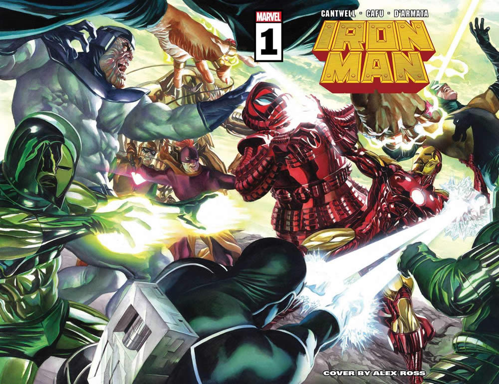 Iron Man 1 con cover di Alex Ross