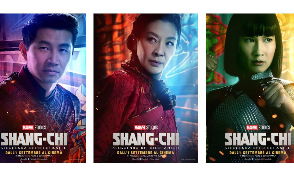 Shang-Chi e la Leggenda dei Dieci Anelli: i posters dei personaggi